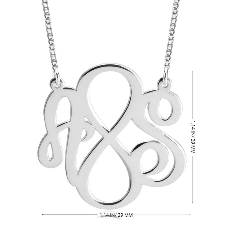 Two Initials Infinity Necklace - Information