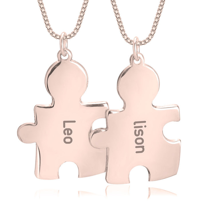 Puzzle Necklace for Couples