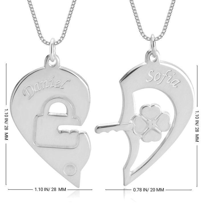 Lock and Key Necklace for Couples - Information