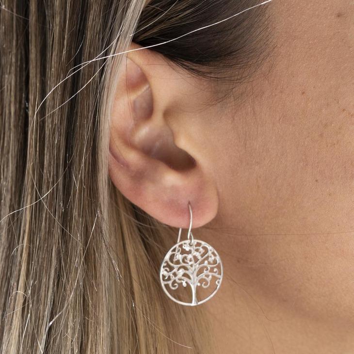 Tree of Life Earrings - Model