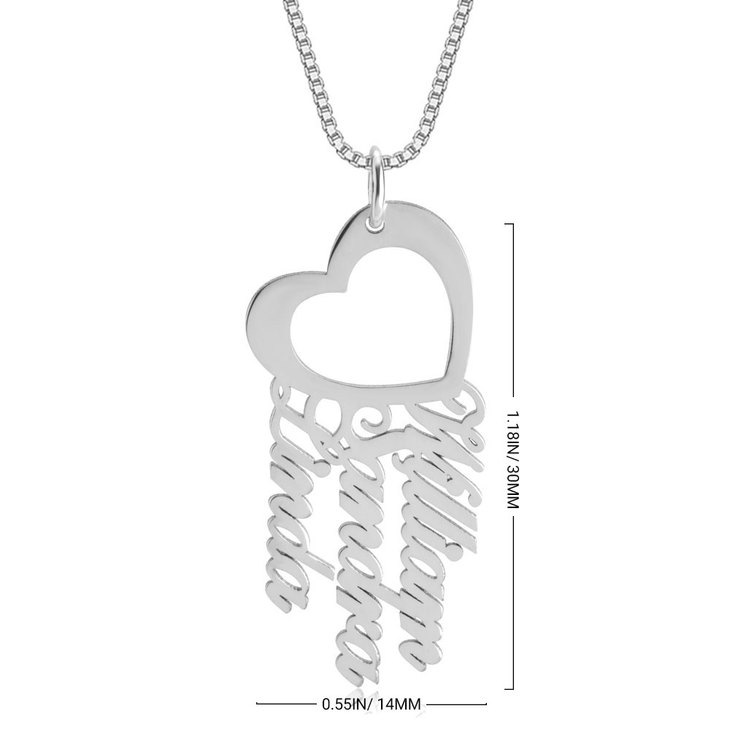 Custom Heart Necklace - Information