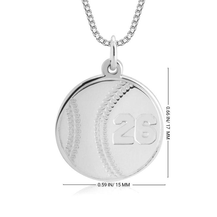 Baseball Number Necklace - Information