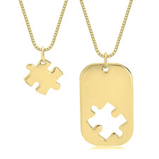 Puzzle Piece Dog Tag