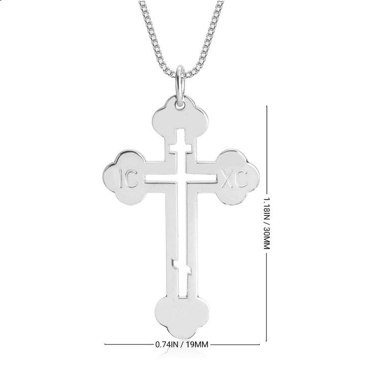 Greek Orthodox Cross Necklace - Information
