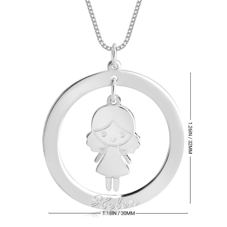 Disc Necklace for Mom with Charm - Information