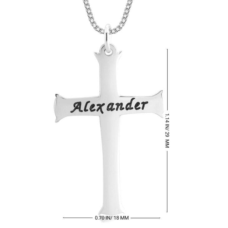 Collier Croix Gravée - Information