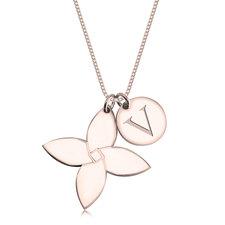 Collier Fleur avec Initiale