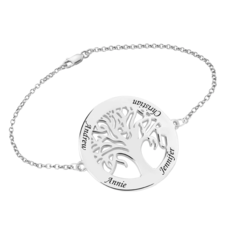 Engraved Tree of Life Bracelet