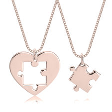 Heart Puzzle Necklace