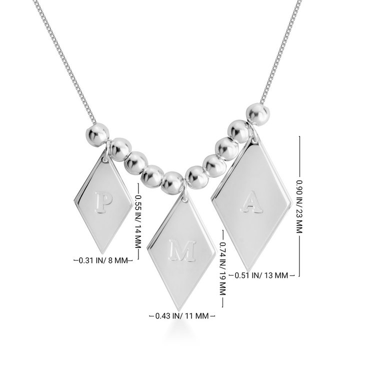 Mothers Initial Necklace - Information
