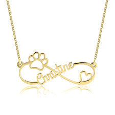 Infinity Dog Paw Necklace