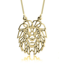 Geometric Lion Necklace