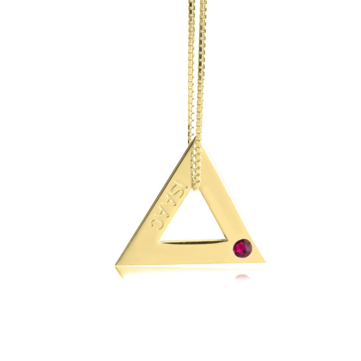 Geometric Shape Engraved Necklace - Picture 3