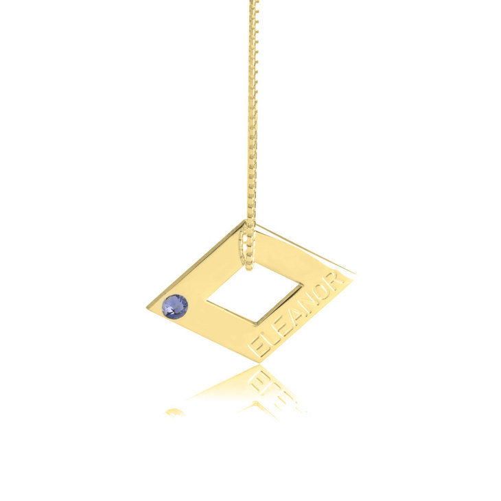 Geometric Shape Engraved Necklace - Picture 4