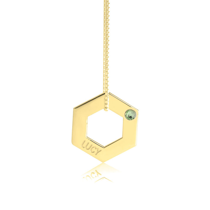 Geometric Shape Engraved Necklace - Picture 5