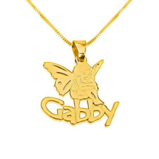 14k Gold Angel Pendant with A Name