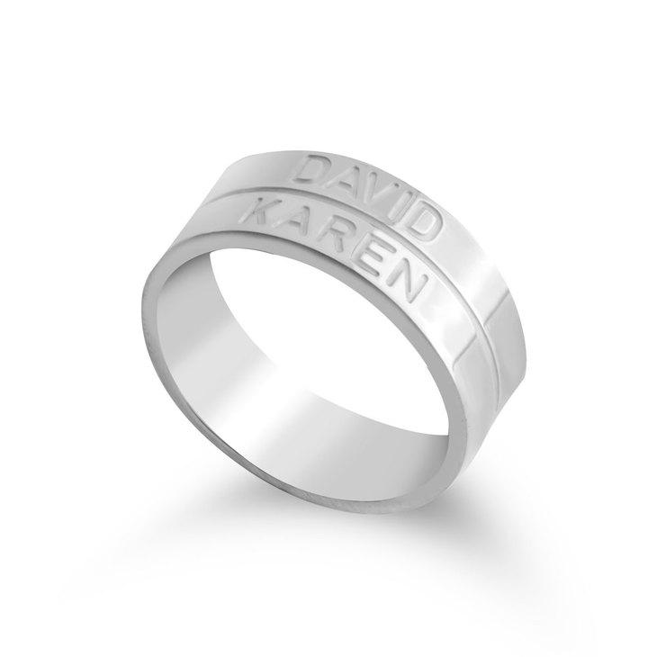 Engraved Stacking Name Ring