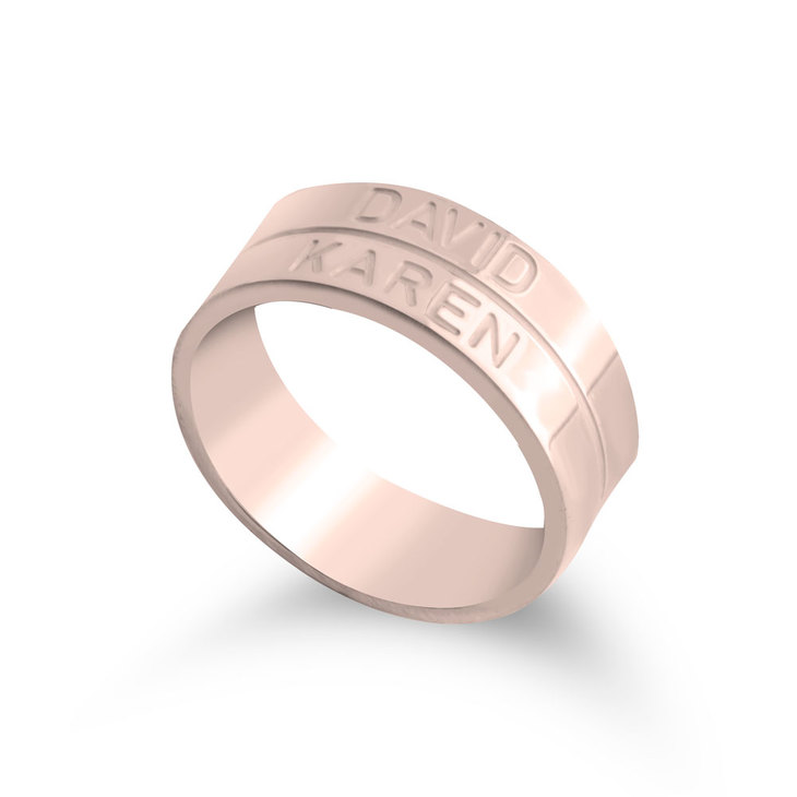 Engraved Stacking Name Ring