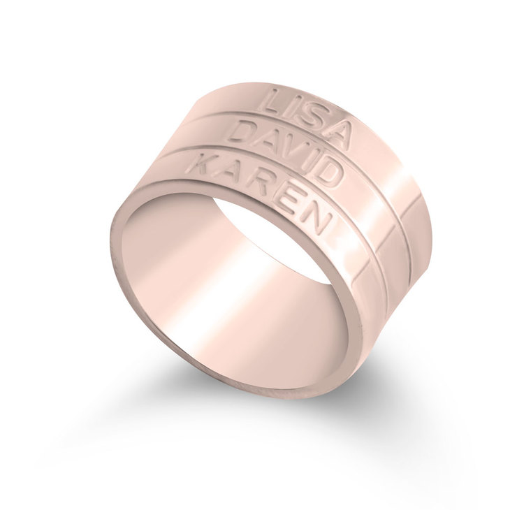 Engraved Stacking Name Ring - Picture 2