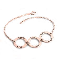 Personalized Disc Bracelet for Mom