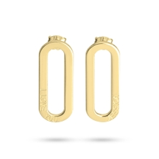 Engraved Chain Link Earrings