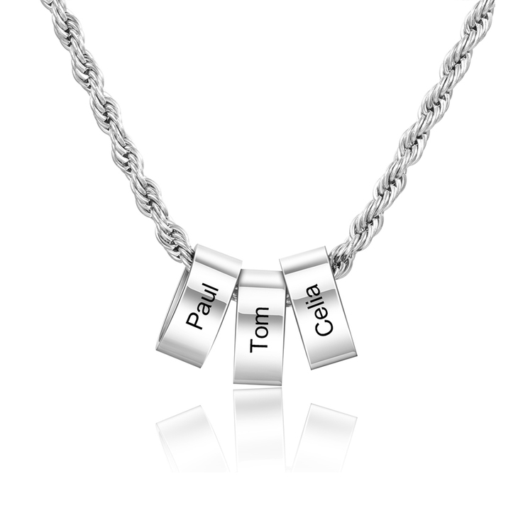 Unisex Necklace with Personalised Beads - Picture 2