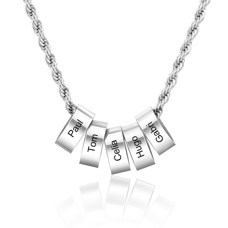 Unisex Necklace with Personalised Beads - Picture 4