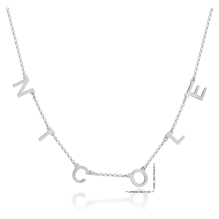 Spaced Letter Necklace - Information