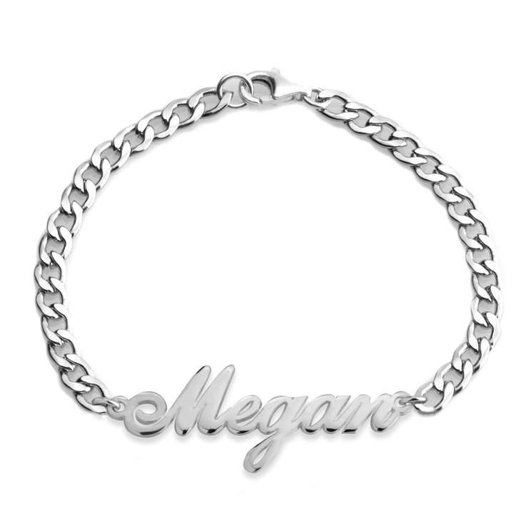 Curb Chain Name Bracelet