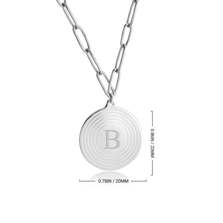 Paperclip Chain Initial Necklace - Information