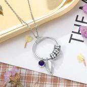Mom & Grandma Engrave Charms Circle Necklace