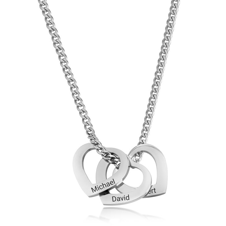 Heart Charm Necklace for Mom