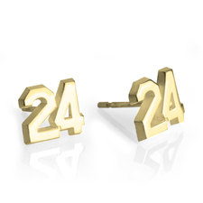 Sports Number Earrings