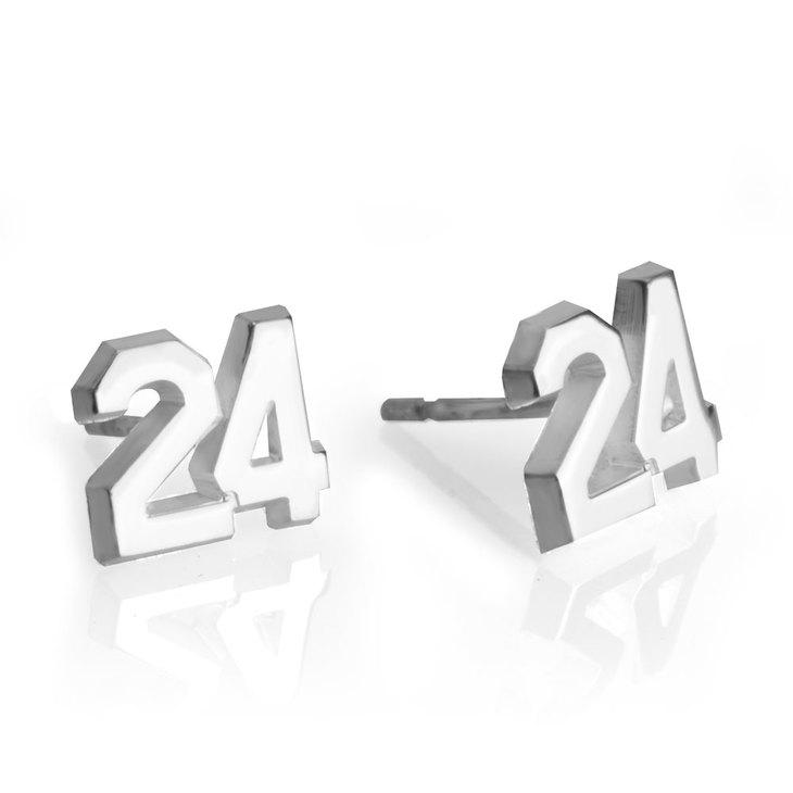 Sports Number Earrings