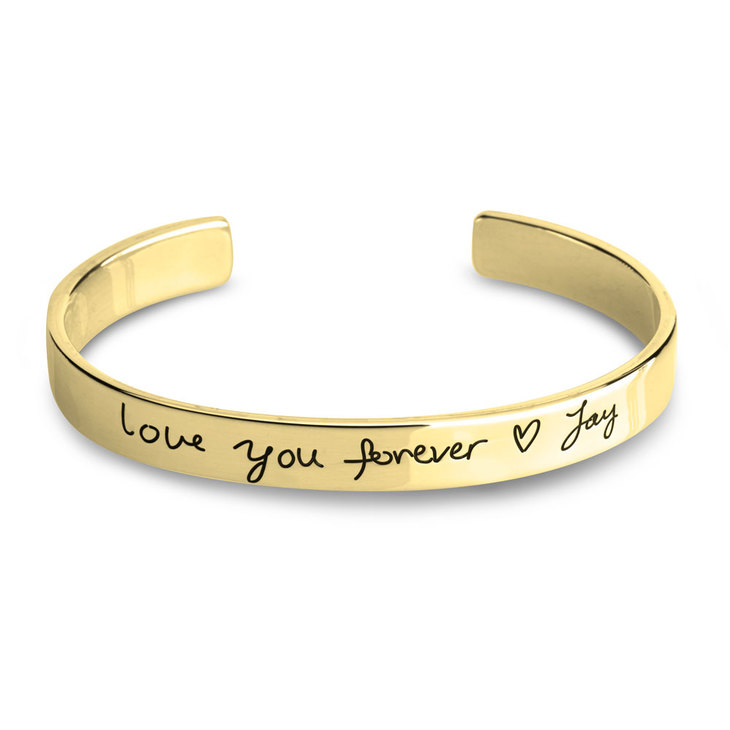 Custom Handwritten Message Bracelet
