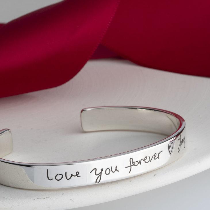 Custom Handwritten Message Bracelet - Model