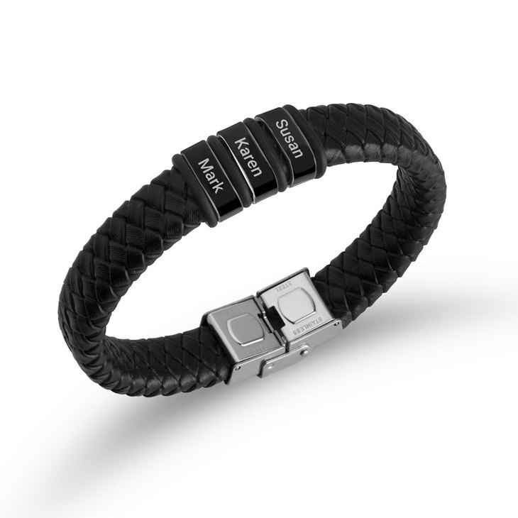 Dad Bracelet with Engraved Kids Names - Picture 2
