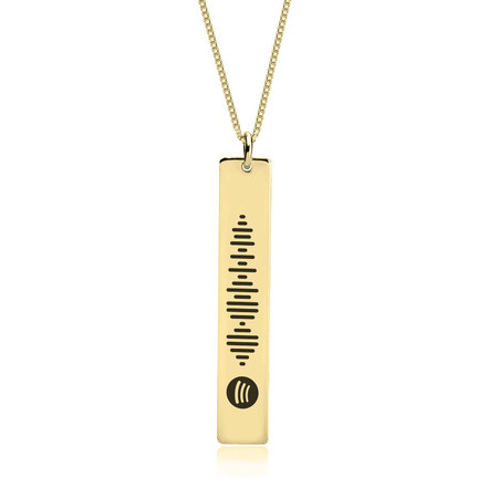 Vertical Bar Spotify Necklace