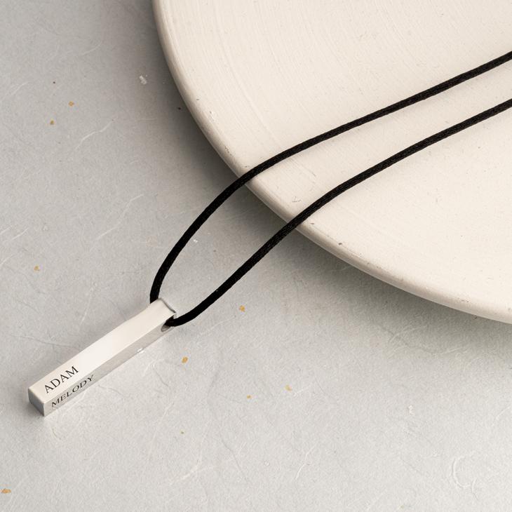 3D Bar Name Necklace for Men - Model