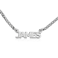 Cuban Link Name Necklace In Capitals