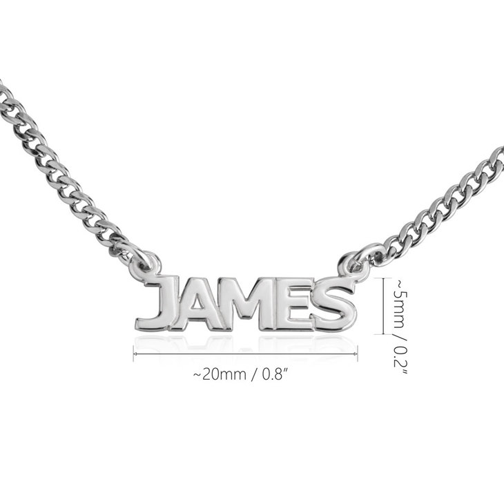 Cuban Link Name Necklace In Capitals - Information