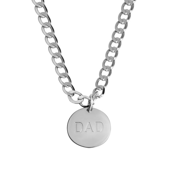 Engraved Dad Necklace