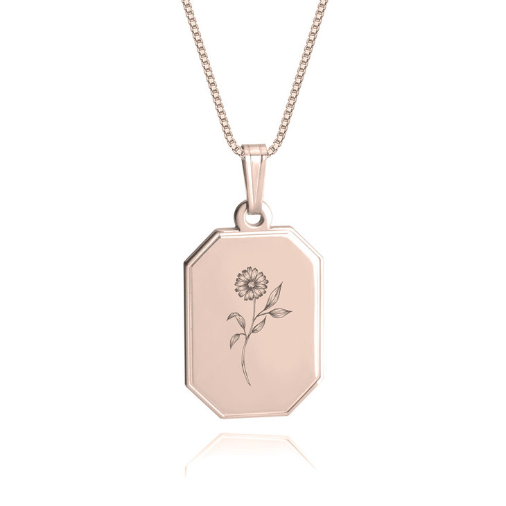 Birth Flower Necklace - Picture 3