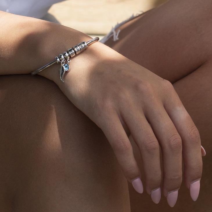 Charm Bracelet with Engraved Names - Model