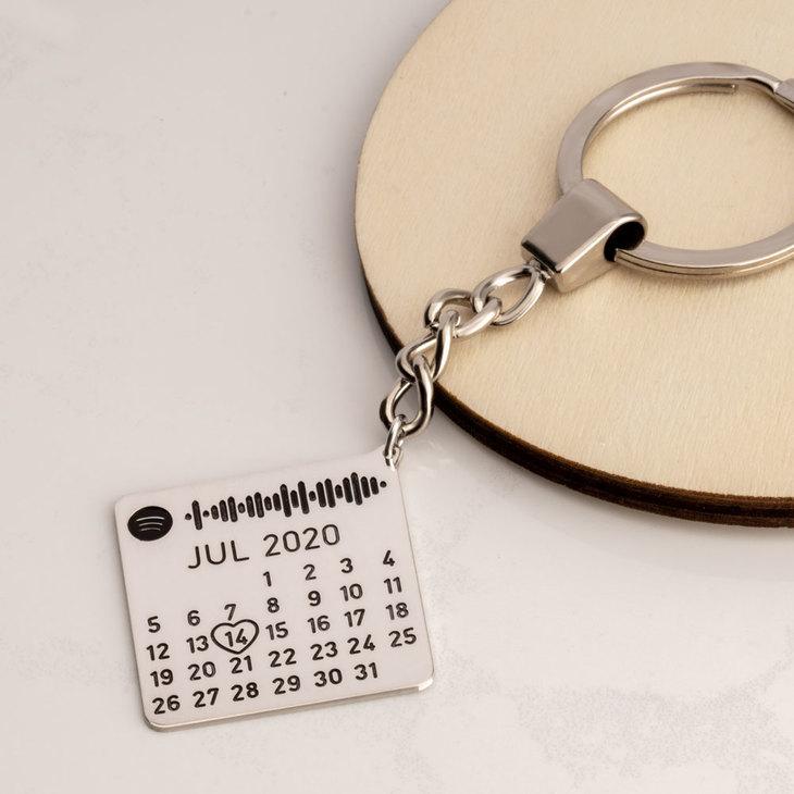 Spotify Date Custom Keychain - Model