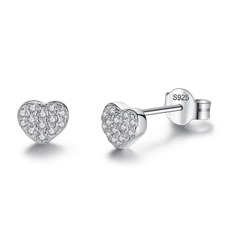 Heart Cubic Zirconia Earrings
