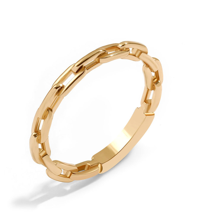 Paperclip Chain Link Ring