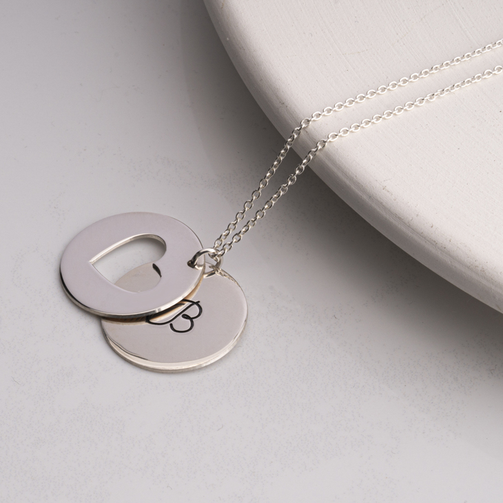 Heart and Initial Necklace - Model