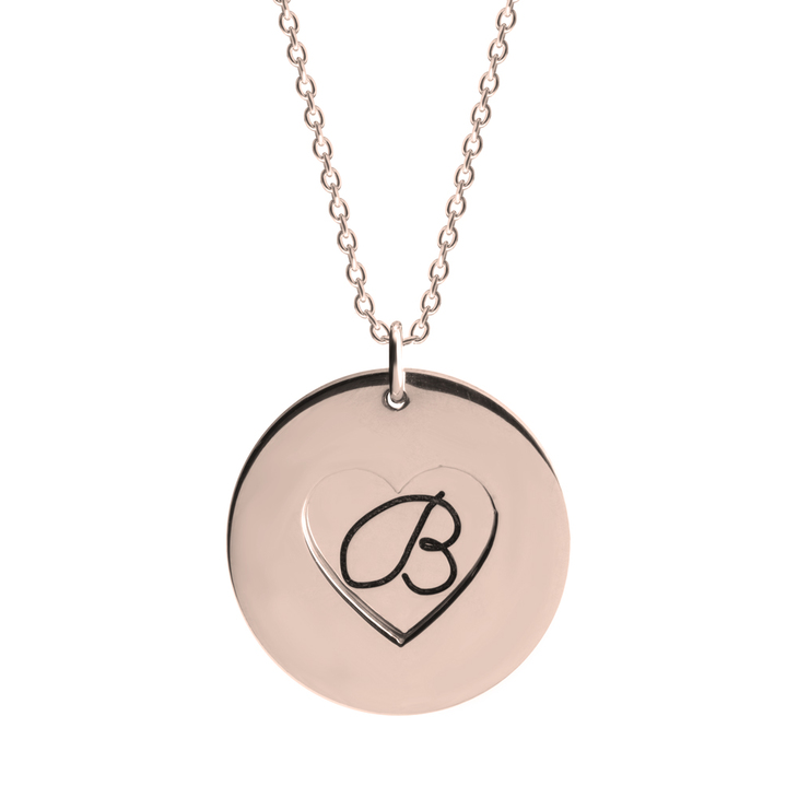 Heart and Initial Necklace