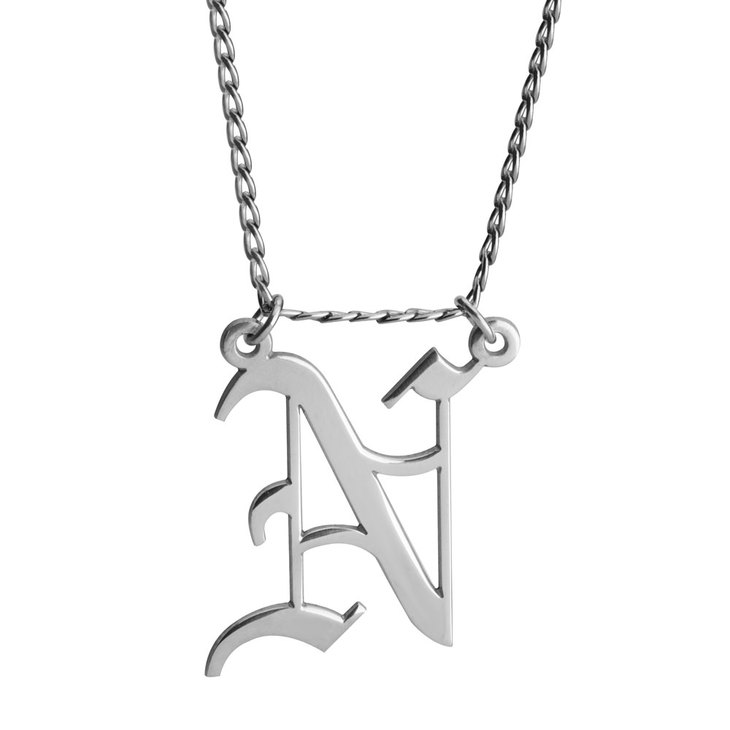 Cuban Link Initial Necklace